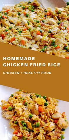 Skip the take-out and make this easy chicken fried rice at home. It's a simple weeknight dinner that's so budget friendly, and it's a real crowd-pleaser! Homemade Chicken Fried Rice, Healthy Chicken Recipes, Rice Recipes, Cooking Recipes, Asian Dinner Recipes, Asian Recipes, Easy Home Cooked Meals, Easy Dinners, Arroz Frito