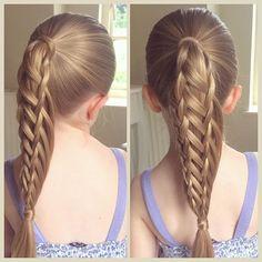 I was sent a picture by @kaylee.jane.54 of a ponytail style she'd done and here's my recreation  #sweetheartshairdesign #perfecthairpics #modernsalon #braidsforlittlegirls #ponytail #braids #peinado #plait #trenza #tresse