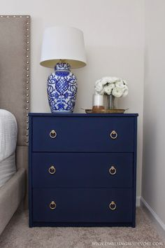 DIY Fabric Covered Nightstand