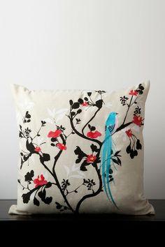 Bird Pillow - Multi by Throw Pillow Blowout on @HauteLook