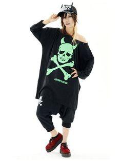 Devil Skull BIG Long Sleeve T-Shirt / See more at http://www.cdjapan.co.jp/apparel/new_arrival.html?brand=SLV #harajuku