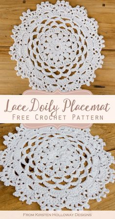 Lacy Mandala Placemats Free Crochet Pattern for Weddings Crochet these pretty lace placemats to decorate your next dinner event! The easy mandala doily patterns look beautiful on any special occasion table setting including weddings and parties. Crochet Placemat Patterns, Crochet Coaster Pattern, Crochet Mandala Pattern, Crochet Circles, Free Doily Patterns, Crochet Dollies, Crochet Flowers, Crochet Wedding, Thread Crochet