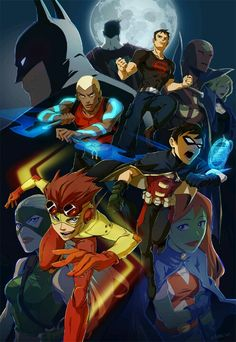 Young Justice Original six - Aqualad, Robin, Kid Flash, Superboy, Miss Martian and Artemis. Young Justice League, Young Justice Invasion, Wally West Young Justice, Young Justice Comic, Nightwing Young Justice, Young Justice Characters, Young Justice Season 3, Dc Characters, Robin Starfire
