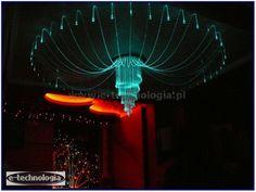 Żyrandol Światłowodowy Ośmiornica galeria pięknych wnętrz