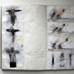 19_L_experimental_collage  Art Student Sketchbooks , Art School