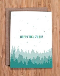 happy new year this simple and sweet nature inspired a2 card 4 x 55