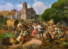 View The Tinikling Dance By Fernando Amorsolo; oil on canvas; Access more artwork lots and estimated & realized auction prices on MutualArt. Arte Filipino, Filipino Culture, Filipino House, Classic Paintings, Contemporary Paintings, Art Sketches, Art Drawings, Philippine Art, Philippines Culture