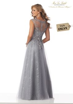 633723024d66 Estilo ENLVX Allover Lace Social Occasion Gown with Beaded