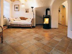 Porcelain stoneware floor tiles with terracotta effect CASALI Ville d'Italia Collection by COTTO D'ESTE