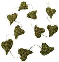Lillian Rose Moss Heart Garland, 60-Inch -- Check this awesome image @
