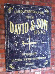 David & Son - Vintage sign