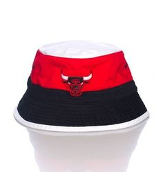 meet c8eab 6e6e7 CHICAGO BULLS NBA BUCKET HAT RED WHITE  amp  BLACK  MitchellNess  Bucket  Chicago Bulls