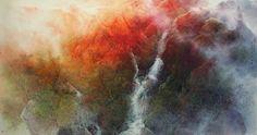 馮一鳴(Feng Yiming) 紫氣東來 96x178cm  #ART #GALLERY #PAINTING #MOUNTAIN #LANDSCAPE #INK #EXHIBITION