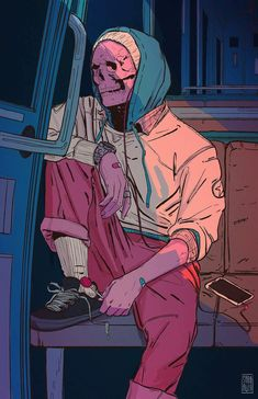 Find images and videos about art, illustration and skull on We Heart It - the app to get lost in what you love. Aesthetic Art, Aesthetic Anime, Dope Kunst, Arte Horror, Dope Art, Psychedelic Art, Skull Art, Art Inspo, Art Reference