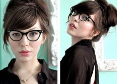 I love the relaxed, but still chic look of this bun and the side-swept bangs!