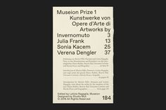 Museion Prize 1 on Behance