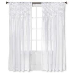 Ruffle curtain panel white 50x84 quot ruffle curtains curtain