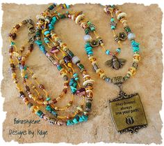 Bohemian Jewelry Honey Bee Irish Blessing Hippie by BohoStyleMe