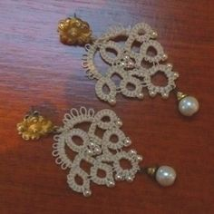 Tatted earrings, but i think would be good snowflakes too.