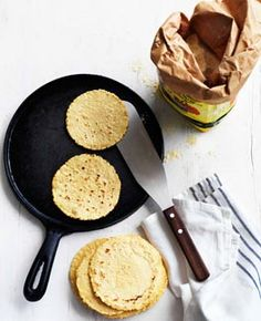 Tortillas, this is basically the recipe that comes on your Masa flour bag, but it has more details in directions.