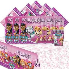Party Tableware and Serveware 26388: Paw Patrol Pink Girl S Children Birthday Complete Party Tableware Pack For 16 -> BUY IT NOW ONLY: $37.35 on eBay!
