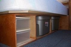 How to Remodel your RV bed to improve RV interior storage. Great Idea!!