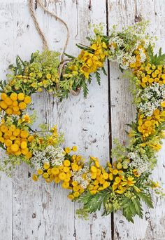 226...Fall Heart wreath...use dried goldenrod, berries and more