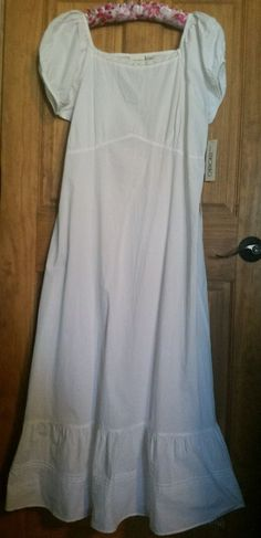 100 % COTTON WHITE LONG MAXI SLEEPSHIRT GOWN NIGHTGOWN XL  #Aspictured… Nick And Nora, Sleep Shirt, Nightgown, Cold Shoulder Dress, Gowns, Clothes For Women, Cotton, Dresses, Fashion