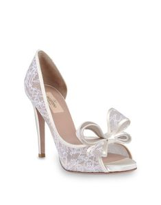 so fab shoes: VALENTINO FAB WHITE BOW SHOES FOR BRIDE