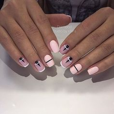 Interesting Geometric Nail Art Ideas, You Need To Try To Choose Is Endless - Page 11 of 21 - Dazhimen Shellac Designs, Manicure Nail Designs, Nail Manicure, Nails Design, Design Design, Minimalist Nails, French Nails, Short Nail Designs, Nail Art Designs