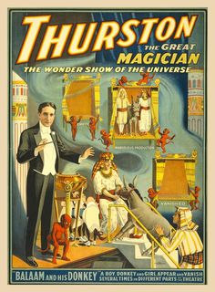 antique victorian magician art poster egyptian by FrenchFrouFrou