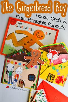 The Gingerbread Man Storytelling Craft and Free Printable - - - The Gingerbread Man House Craft and Free Printable Puppets-Kids can decorate an envelope and put their puppets inside when they are done retelling the story with their puppets. Gingerbread Man Crafts, Gingerbread Man Activities, Christmas Gingerbread, Gingerbread Stories, 3d Christmas, Preschool Christmas, Christmas Activities, Book Activities, Flannel Board Stories
