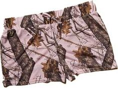 WEBER CAMO LEATHER GOODS Jersey Shorts Soft Poly Mossy Oak Breakup Pink Small, EA
