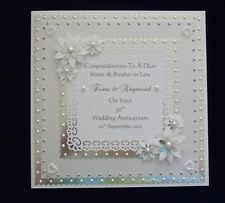 Personalised Pearl 30th Wedding Anniversary Card With Or Without Matching Box