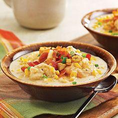 Shrimp Potato & Corn Chowder by @mytexaslife