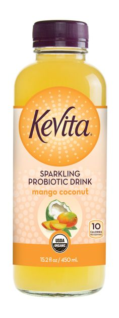 Mango Coconut KeVita! Enjoy our perfectly balanced blend of mangos, KeVita Probiotic Culture and coconut water. Mango Coconut KeVita is certified organic and non-GMO.