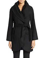 Envelope Collar Wrap Coat