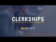 Clerkships: Thoughts from our Clerkship Committee - 844-292-1318 Michigan legal aid -  University of Michigan Law School Professors Nicholas Bagley, Julian Davis Mortenson, and Kimberly Thomas, who serve on Michigan Law's clerkship committee, discuss why clerkships are valuable legal experiences and how the clerkship committee can aid students in the clerkship application process. http://www.law.umich.edu/Pages/default.aspx Video Rating:  / 5  Looking for a Lawyer? Watc