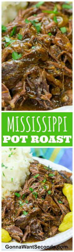 Mississippi Pot Roast is a new classic – a simple but hearty, homey dish packed with flavor and the promise of a satisfying supper. Your crock pot does all the work, and you get all the credit!