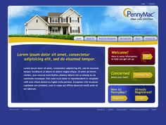 Web Design Concept for PennyMac -- designed by Executionists