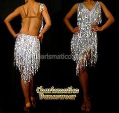 Charismatico Dancewear Store - Silver latin Shiny Fringe DANCE Dress, $180.00 (http://www.charismatico-dancewear.com/products/Silver-latin-Shiny-Fringe-DANCE-Dress.html)