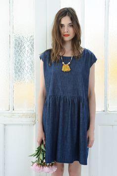 Dress Olive Indigo - robe - Des Petits Hauts, size 3