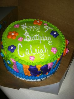 Flip Flop Cake... Caleighs 9th Birthday