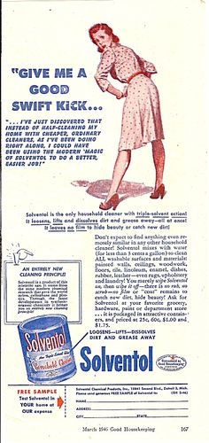 I've studied enough of the ads of the period to largely be desensitized to the inherent misogyny but every once in a while... whoa.  Vintage Ads - July 21st, 2011