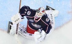 Columbus Blue Jackets - Photo Journal: Bobrovsky: Shallow fly, center field, Bobrovsky's under it...and the side is retired.