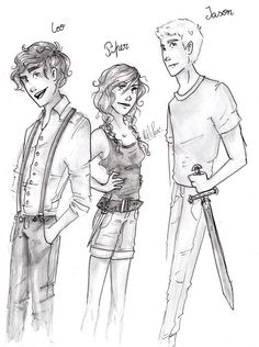 Leo Valdez, Piper Mclean, and Jason Grace