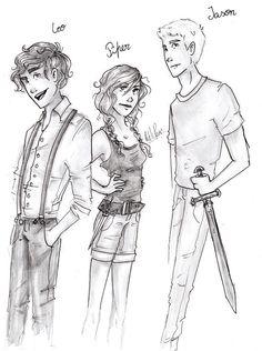 Leo Valdez, Piper Mclean, and Jason Grace