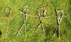 Mini wicker men for our Beltane bonfire