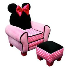 Disney Minnie Mouse Chair & Ottoman!!! Cutest chair ever! Must get for Harper!