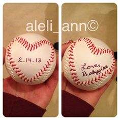 What I gave my baseball playing boyfriend this year for Valentine's Day. :) He absolutely loved it!!